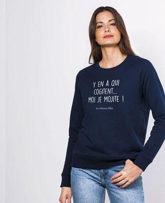 Sweatshirt femme Y'en a qui cogitent