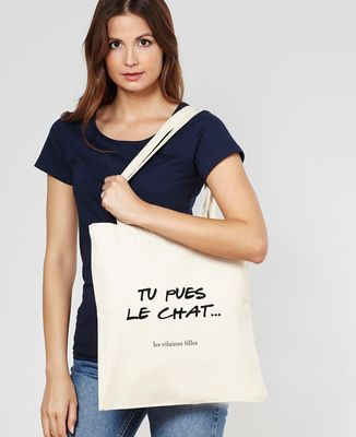 Tote bag Tu pues le chat