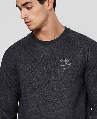 Sweatshirt homme Papa au top brodé