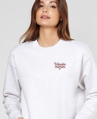 Sweatshirt femme Wonder maman