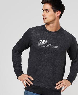 Sweatshirt homme Papa Définition