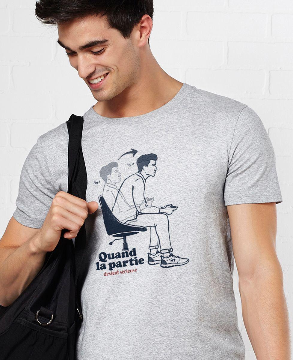 T-Shirt homme Quand la partie devient sérieuse