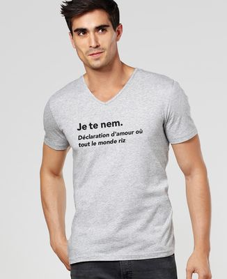 T-Shirt homme Je te nem
