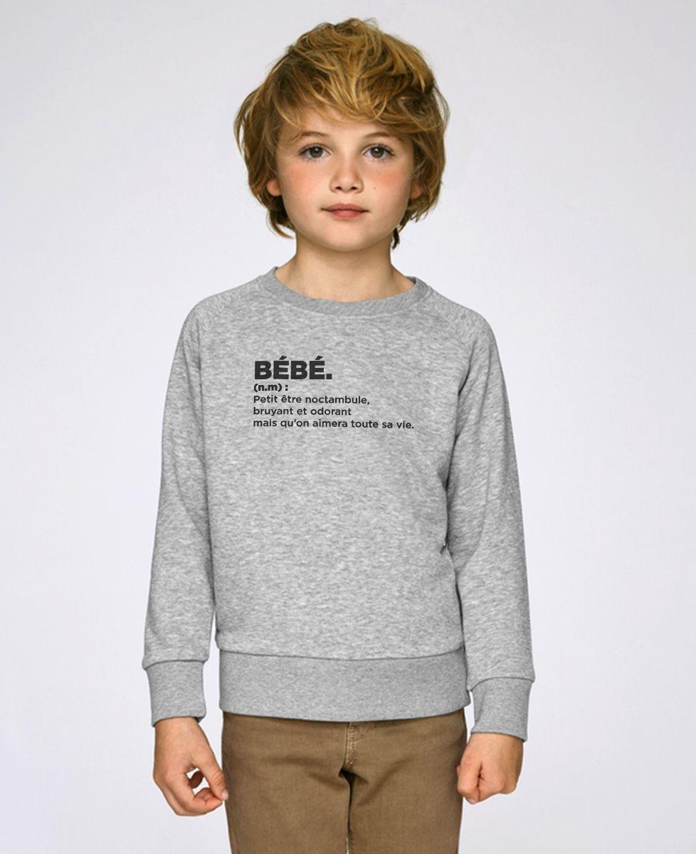 Sweatshirt enfant Bébé définition