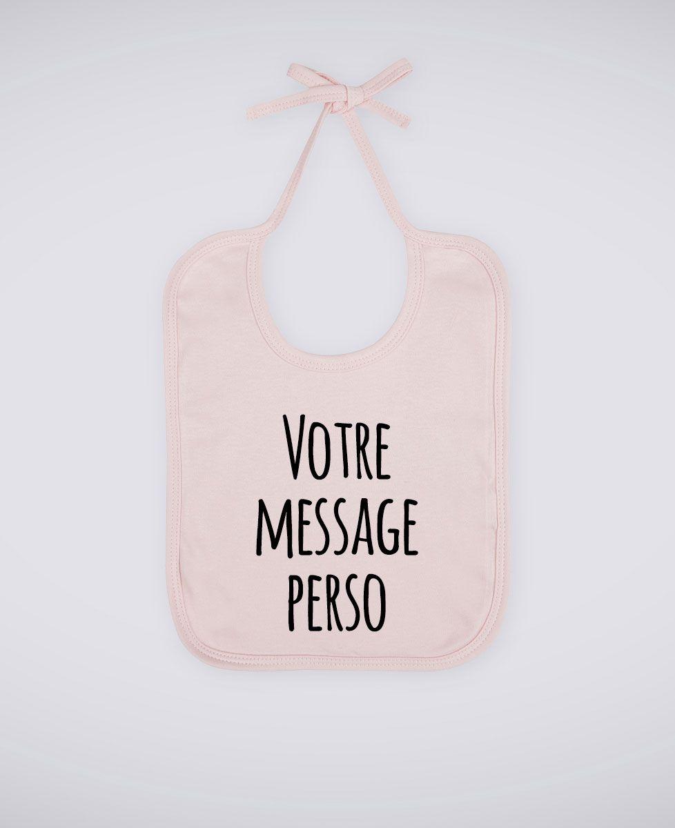 Bavoir Message imprimé personnalisé - Manuscrit