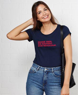 T-Shirt femme Mange ris bois