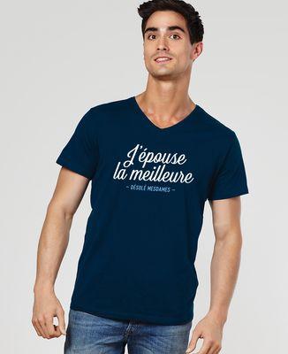 T-Shirt homme J'épouse la meilleure