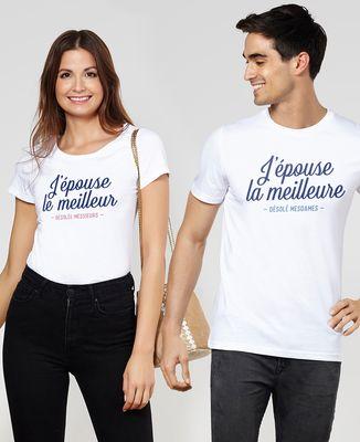 T-Shirt femme J'épouse le meilleur