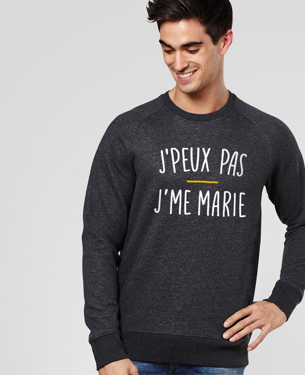 Sweatshirt homme J'peux pas j'me marie
