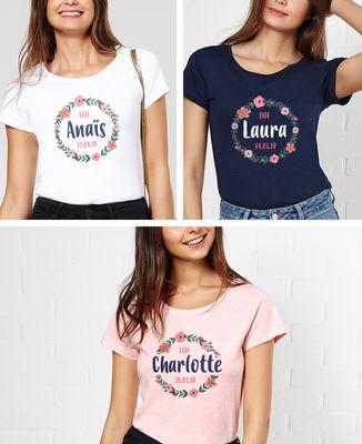 T-Shirt femme EVJF personnalisé