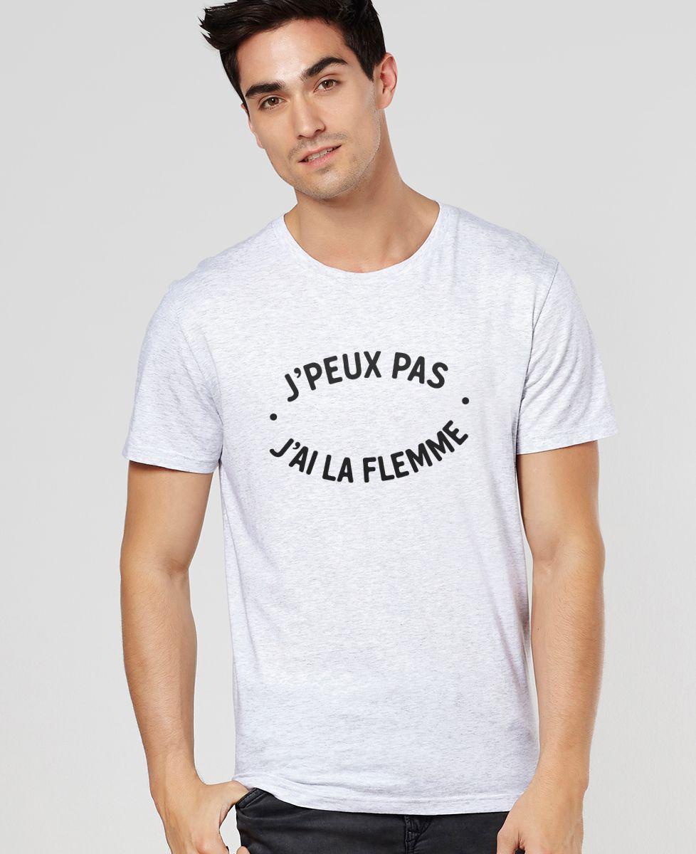 T-Shirt homme J'peux pas j'ai la flemme
