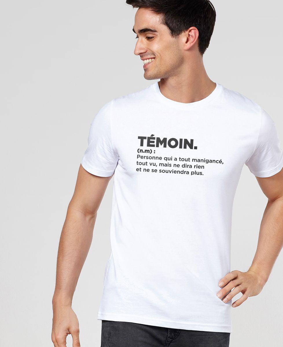 T-Shirt homme Témoin définition