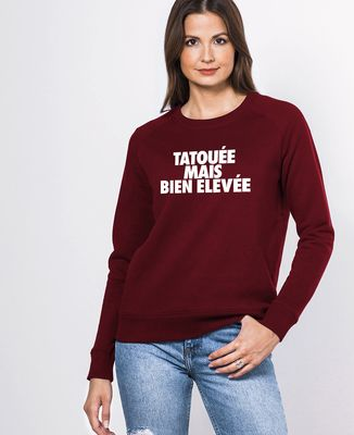 Sweatshirt femme Tatouée mais bien élevée