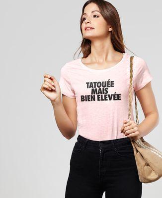 T-Shirt femme Tatouée mais bien élevée