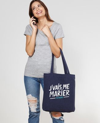 Tote bag J'vais me marier putain !