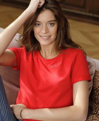 T-Shirt femme Bisou. (Broderie)