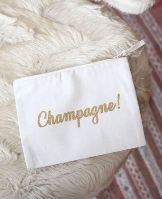 Pochette Champagne ! (Effet paillettes)