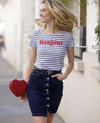 Femme Bonjoureffet Velours Femme T Shirt Shirt Bonjoureffet Shirt Femme T Bonjoureffet T Velours F1TJclK