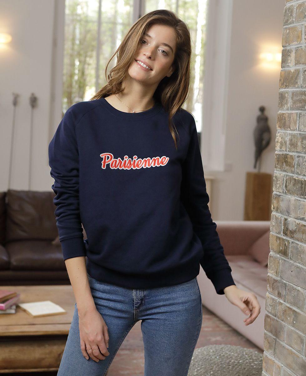 Sweatshirt femme Parisienne (Broderie)