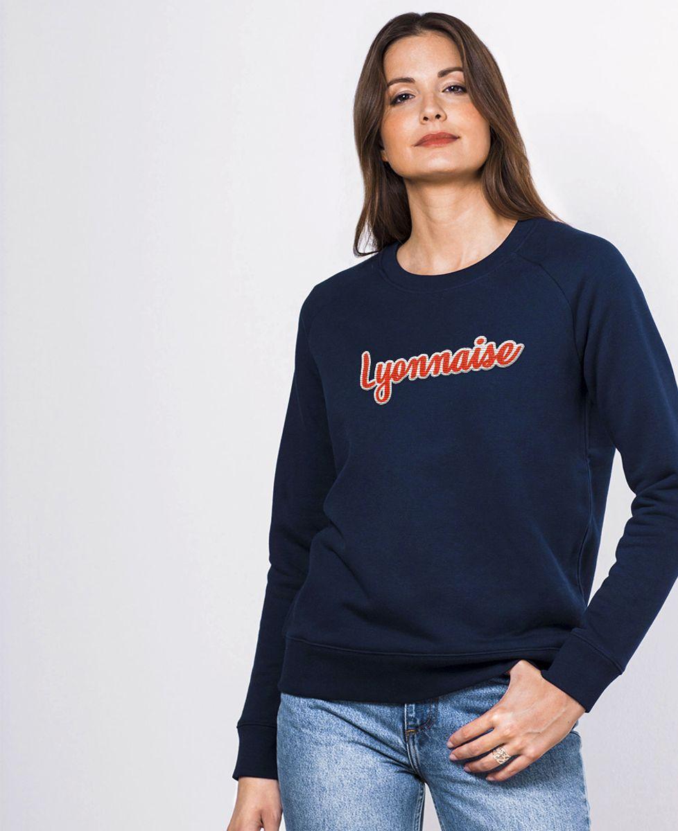 Sweatshirt femme Lyonnaise (Broderie)