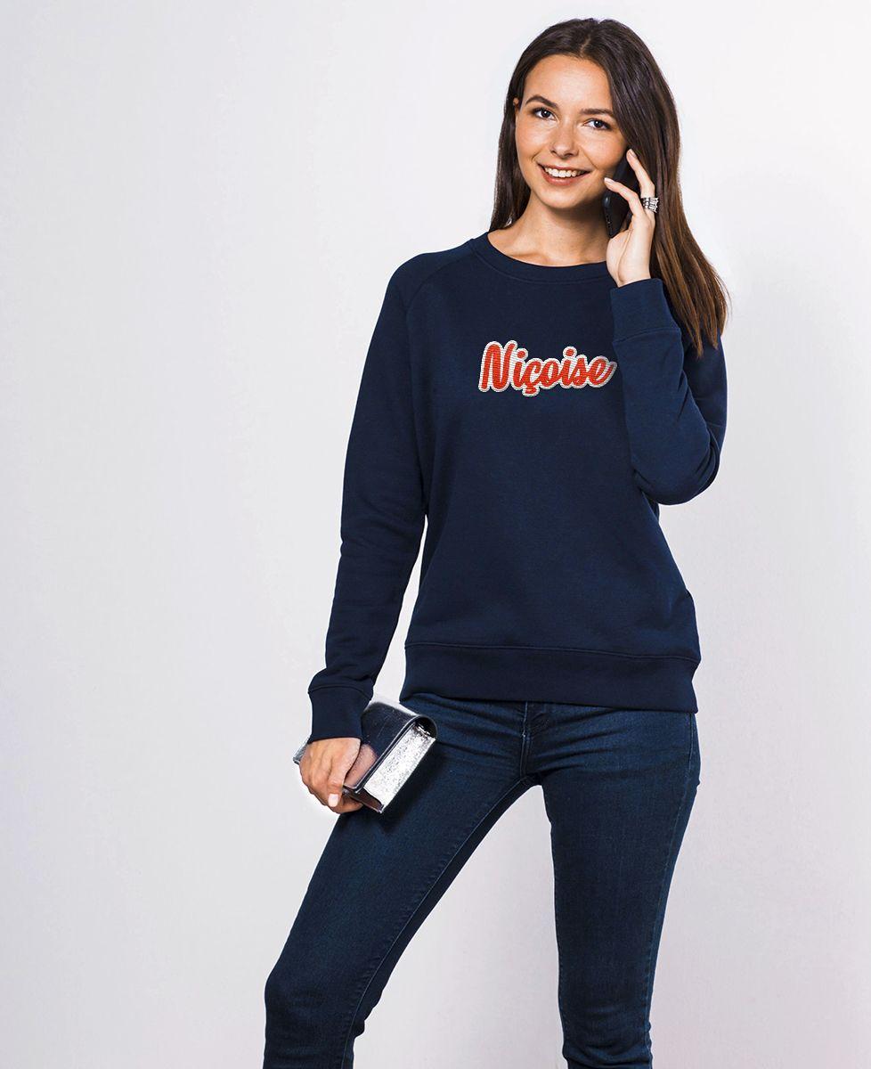 Sweatshirt femme Niçoise (Broderie)