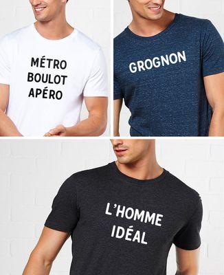 Shirt Message Homme Personnalisé T Imprimé ZwkiOuXPT