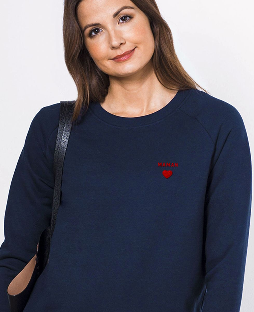 Sweatshirt femme Maman Coeur (brodé)