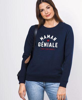 Sweatshirt femme Maman géniale