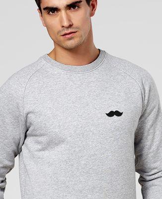 Sweatshirt homme Moustache (broderie)