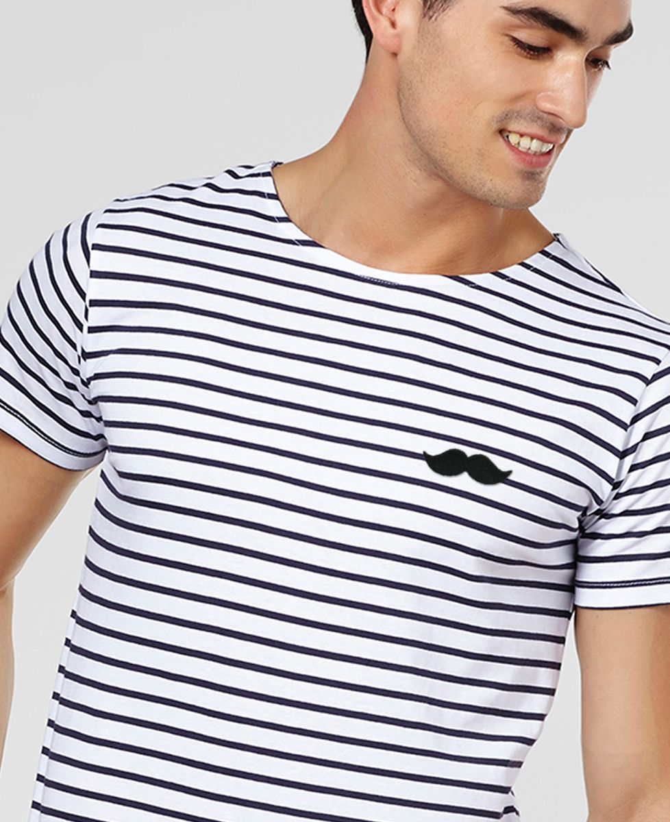 T-Shirt homme Moustache (broderie)