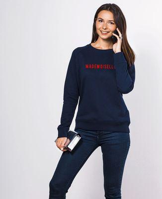 Sweatshirt femme Mademoiselle (effet velours)