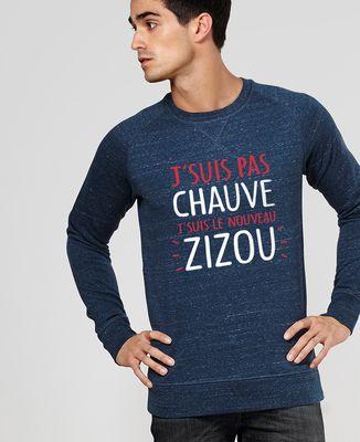 Sweatshirt homme J'suis pas chauve j'suis le nouveau Zizou