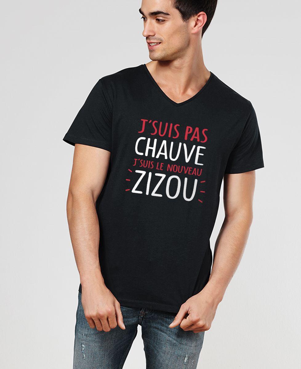 T-Shirt homme J'suis pas chauve j'suis le nouveau Zizou