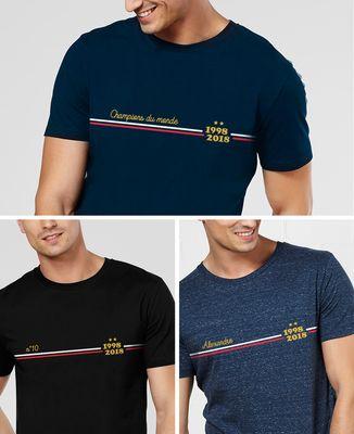 T-Shirt homme Supporter France Bleu personnalisé