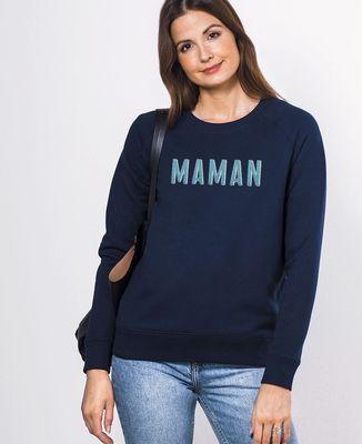 Sweatshirt femme Maman grande broderie