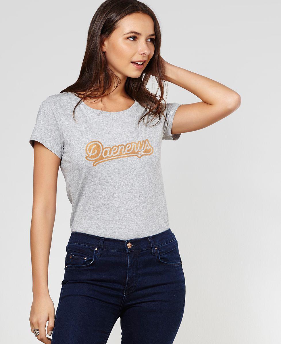 T-Shirt femme Daenerys (effet métallisé)