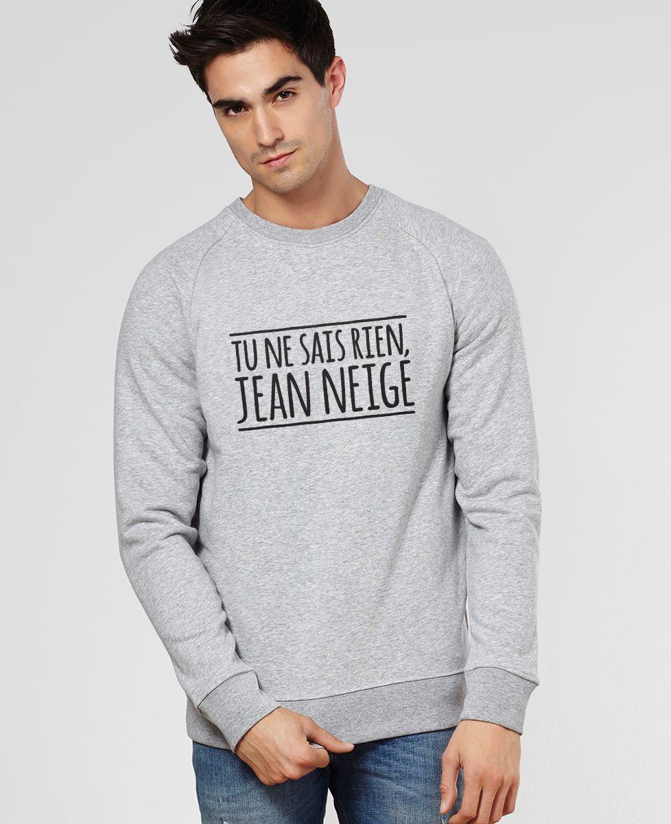 Sweatshirt homme Tu ne sais rien Jean Neige