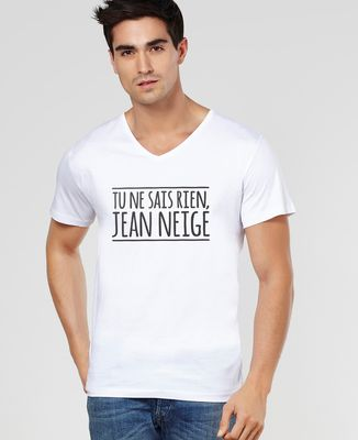 T-Shirt homme Tu ne sais rien Jean Neige