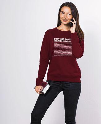 Sweatshirt femme C'est une bonne situation scribe ?