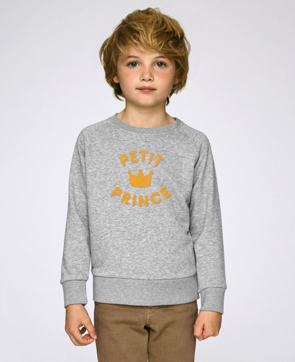 Sweatshirt enfant Petit prince - Effet velours
