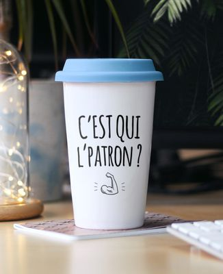 Mug take away C'est qui l'patron ?