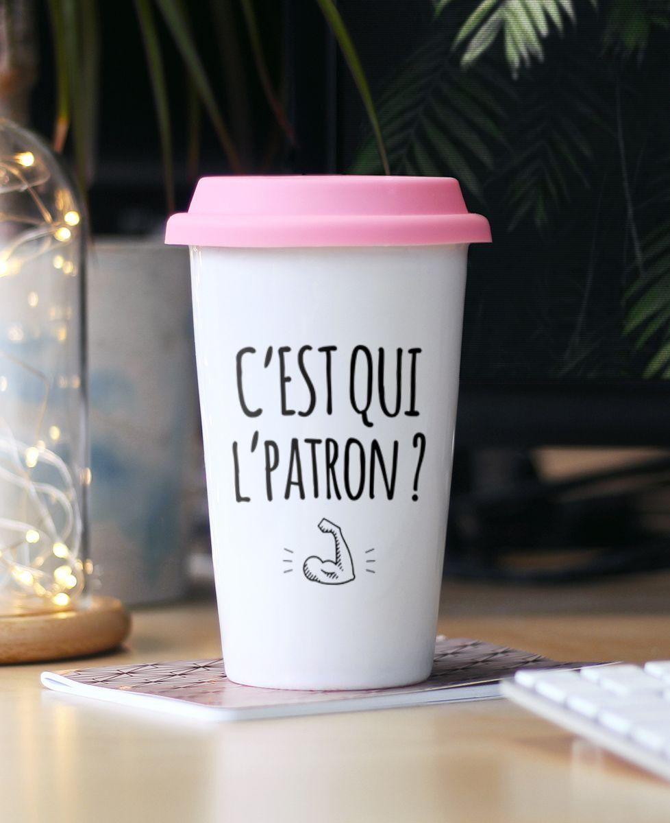 Mug take away C'est qui l'patron ?