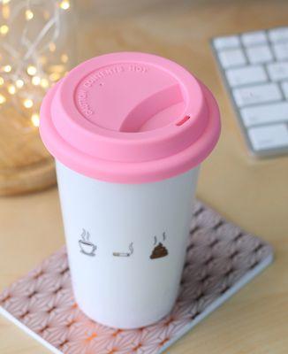 Mug take away Café clope caca