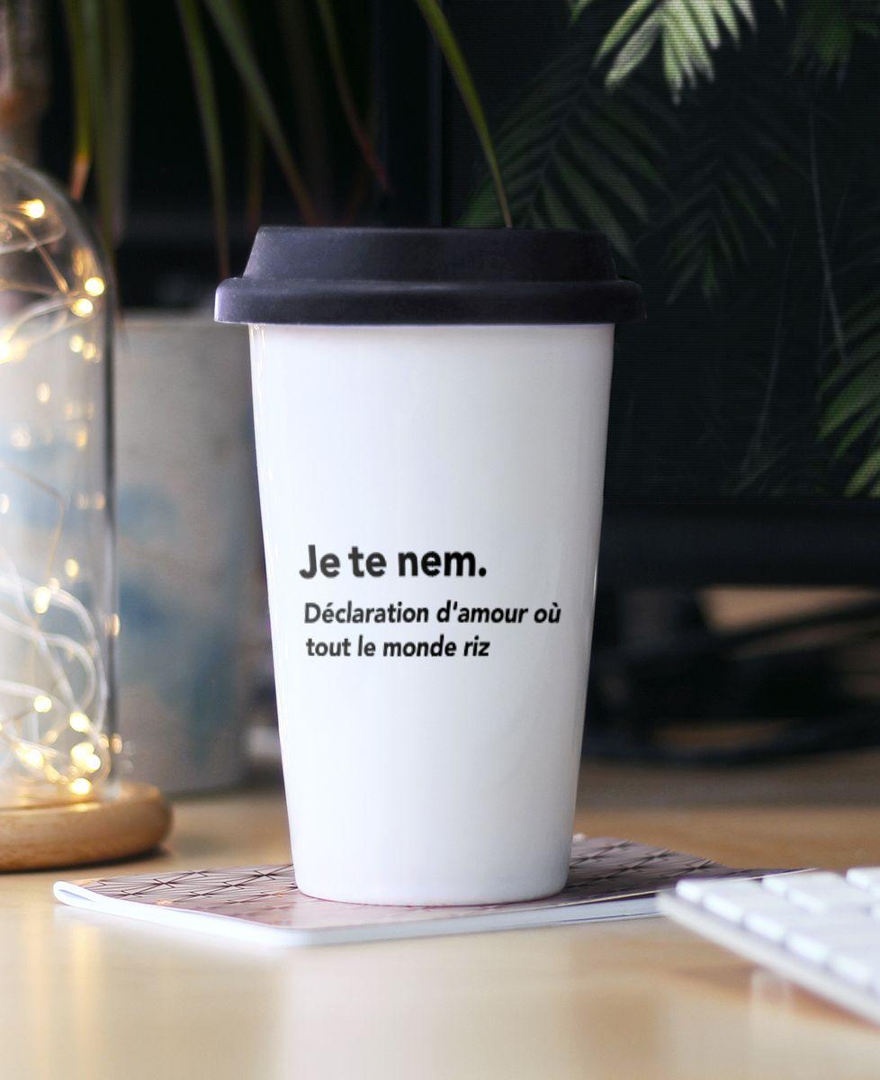 Mug take away Je te nem