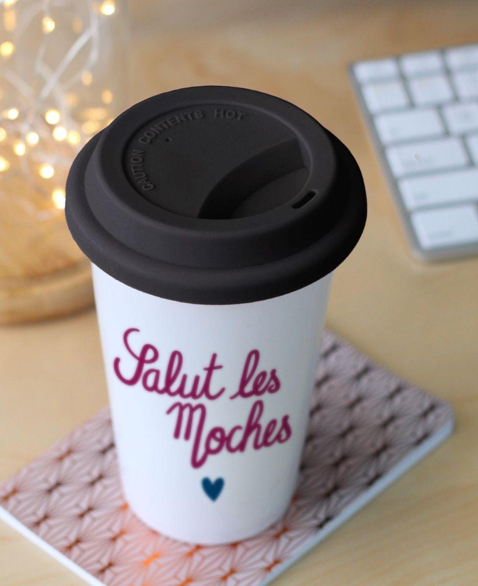Mug take away Salut les moches coeur