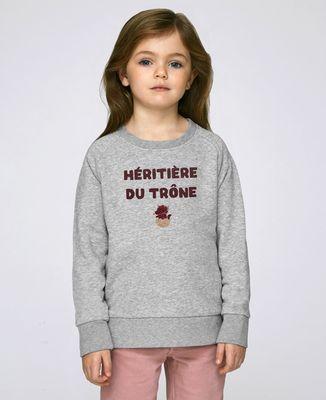 Sweatshirt enfant Héritière du trône