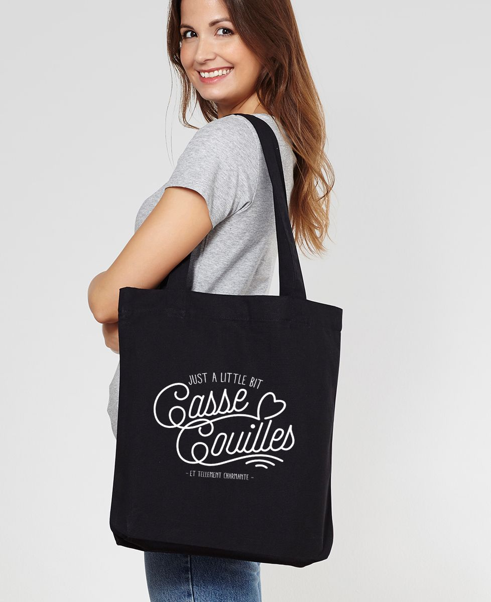 Tote bag Little bit casse couilles