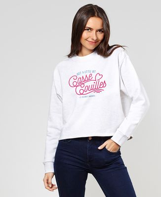 Sweatshirt femme Little bit casse couilles