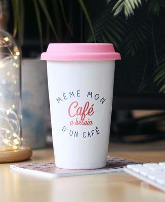Mug take away Même mon café