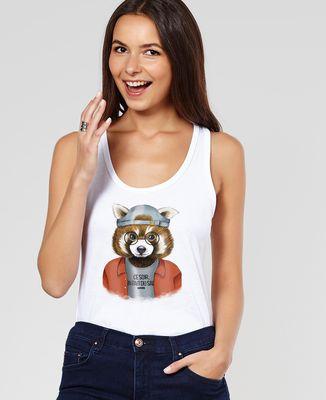 Débardeur femme Cool panda roux